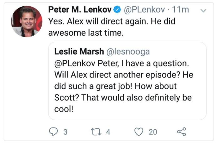Alex will direct again!