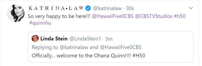 Tweet from Katrina